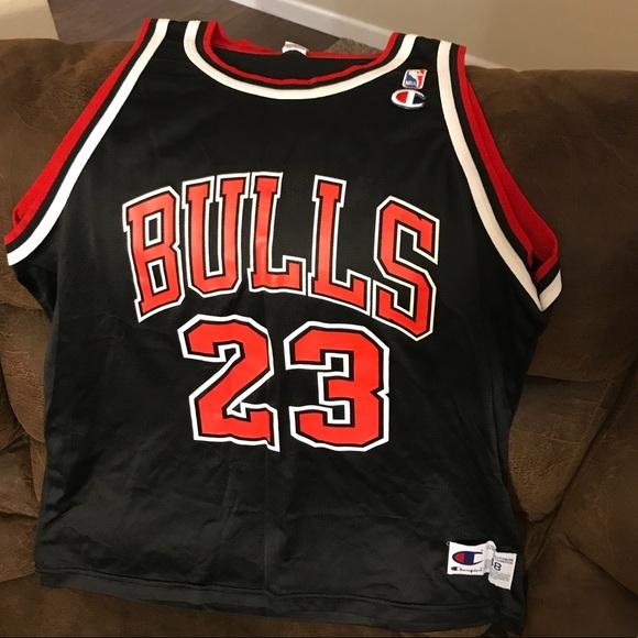 release date a17af abe89 Vintage Jordan #23 Black Champion Jersey